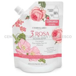 3 Rosa bagnoschiuma ecoricarica 500 ml